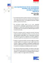 Las organizaciones de los movimientos sociales y los movimientos sociales en México, 2000 - 2014