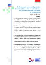 El observatorio de crimen organizado y gobernanza democrática en América Latina