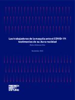 Las trabajadoras de la maquila ante el COVID-19